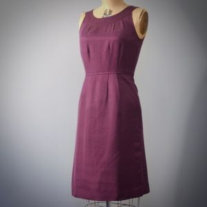 BODEN Purple silk blend faille cocktail dress